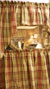 Park Cafe Plaid Curtains