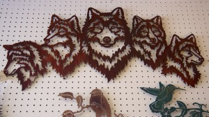 Wolf Metal Sculpture