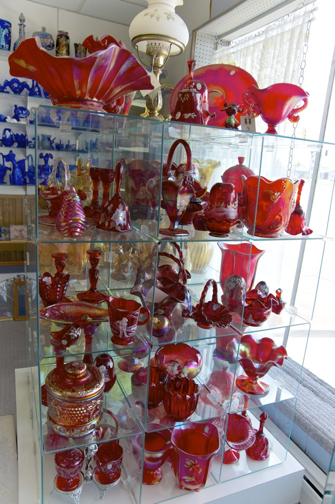 Red Carnival Glass and more
